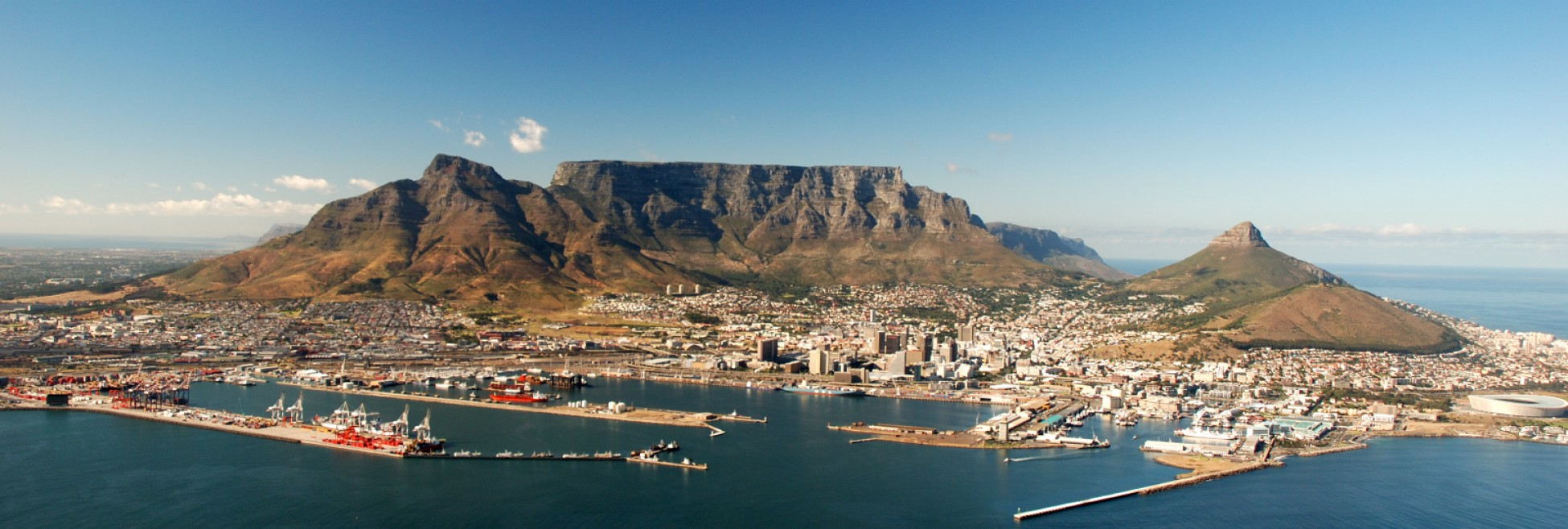 Cropped Table Mountain In Cape Town South Africa Wallpaper
