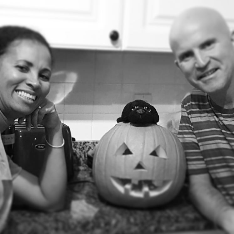 Beginners designing a pumpkin to light up some faces